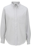 Women's Dress Button Down Oxford LS Light Grey Thumbnail