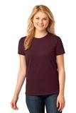 Women's 5.4-oz 100 Cotton T-shirt Athletic Maroon Thumbnail