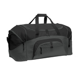 Colorblock Sport Duffel Black with Dark Charcoal Thumbnail