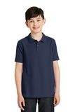Youth Silk Touch Polo Shirt Navy Thumbnail
