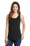 Women's 5.4 oz. 100 Cotton Tank Top Jet Black Thumbnail