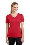 Women's V-neck Competitor Tee True Red Thumbnail