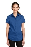 Women's Short Sleeve SuperPro Twill Shirt True Blue Thumbnail