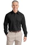 Tall Long Sleeve Non-iron Twill Shirt Black Thumbnail