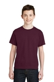 Youth Ultra Blend 50/50 Cotton / Poly T-shirt Maroon Thumbnail