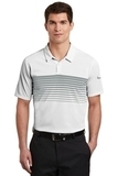 Nike Golf Dri-FIT Chest Stripe Polo White with Cool Grey Thumbnail