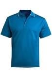 Men's Tipped Collar Dry-mesh Hi-performance Polo Marina Blue Thumbnail