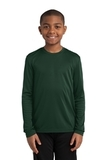 Youth Long Sleeve Competitor Tee Forest Green Thumbnail