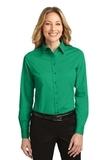 Women's Long Sleeve Easy Care Shirt Court Green Thumbnail