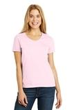 Women's V-neck T-shirt Pale Pink Thumbnail