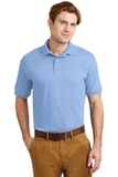 Ultra Blend 5.6-ounce Jersey Knit Sport Shirt Light Blue Thumbnail