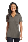 Women's Cotton Touch Performance Polo Grey Smoke Thumbnail