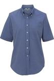 Women's Dress Button Down Oxford SS French Blue Thumbnail
