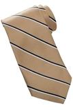Men's Striped Pattern Tie Gold Thumbnail