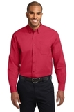 Long Sleeve Easy Care Shirt Red with Light Stone Thumbnail