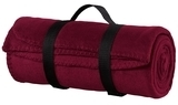 Value Fleece Blanket With Strap Maroon Thumbnail