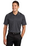 Heather Colorblock Contender Polo Graphite Heather with Black Thumbnail