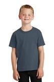 Youth 5.5-oz 100 Cotton T-shirt Steel Blue Thumbnail