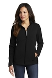 Women's OGIO Exaction Soft Shell Jacket Blacktop Thumbnail