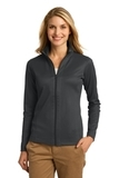 Women's Heavyweight Vertical Texture Full-zip Jacket Iron Grey with Black Thumbnail