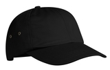 Fashion Twill Cap With Metal Eyelets Black Thumbnail