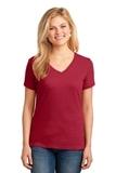Women's 5.4-oz 100 Cotton V-neck T-shirt Red Thumbnail