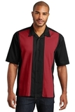 Retro Camp Shirt Black with Red Thumbnail