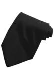Men's Solid Color Tie Black Thumbnail