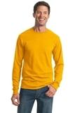 Moisture Management 50/50 Cotton / Poly Long Sleeve T-shirt Gold Thumbnail