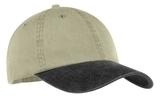 2-tone Pigment-dyed Cap Khaki with Black Thumbnail