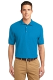 Extended Size Silk Touch Polo Shirt Turquoise Thumbnail