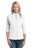 Women's Microfleece Vest White Thumbnail