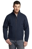 Washed Duck Cloth Flannel-lined Work Jacket Navy Thumbnail