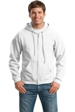 Full-zip Hooded Sweatshirt White Thumbnail