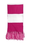 Spectator Scarf Pink Raspberry with White Thumbnail