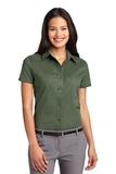 Women's Short Sleeve Easy Care Shirt Clover Green Thumbnail