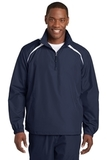 1/2-zip Wind Shirt True Navy with White Thumbnail