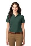Women's Stain-resistant Polo Shirt Dark Green Thumbnail