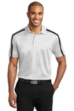 Silk Touch Performance Colorblock Stripe Polo White with Black Thumbnail