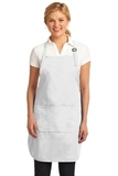 Easy Care Full-length Apron With Stain Release White Thumbnail