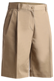 Women's Utility Pleated Chino Short Tan Thumbnail