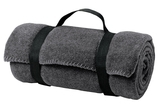 Value Fleece Blanket With Strap Midnight Heather Thumbnail