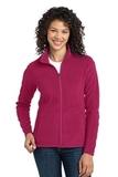 Women's Microfleece Jacket Dark Fuchsia Thumbnail