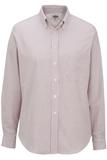 Women's Dress Button Down Oxford LS Burgundy Stripe Thumbnail