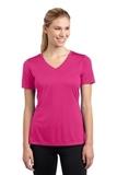 Women's V-neck Competitor Tee Pink Raspberry Thumbnail