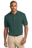 Tall Pique Knit Polo Shirt Dark Green Thumbnail