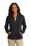 Women's Port Authority Slub Fleece Full-zip Jacket Black Thumbnail