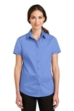 Women's Short Sleeve SuperPro Twill Shirt Ultramarine Blue Thumbnail