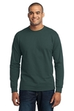 Long Sleeve 50/50 Cotton / Poly T-shirt Dark Green Thumbnail