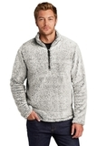 Cozy 1/4-Zip Fleece Grey Heather Thumbnail